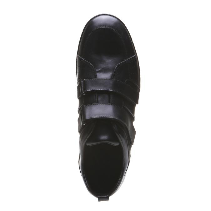 Skórzane buty sportowe bata, czarny, 814-6344 - 19