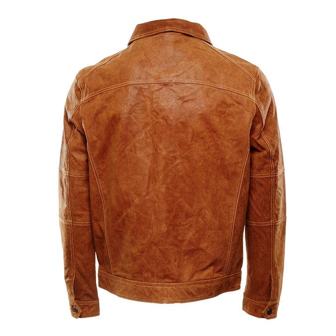 Męska kurtka skórzana bata, brązowy, 973-3104 - 26