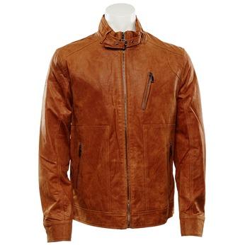 Męska kurtka skórzana bata, brązowy, 973-3108 - 13