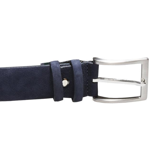 Męski skórzany pasek bata, niebieski, 954-9120 - 26