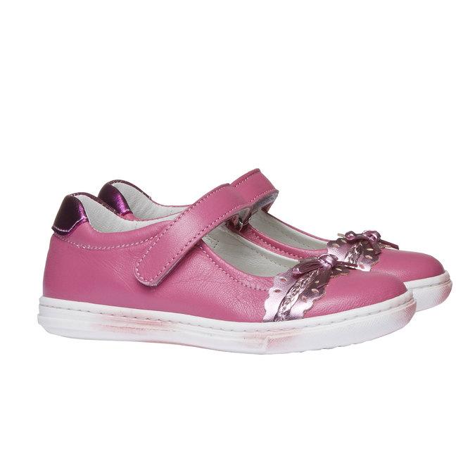 Dziewczęce pantofelki z kokardką mini-b, czerwony, 224-5165 - 26