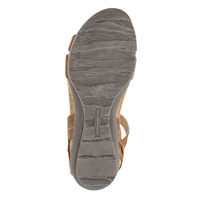 Damskie skórzane sandały weinbrenner, brązowy, 566-4102 - 26