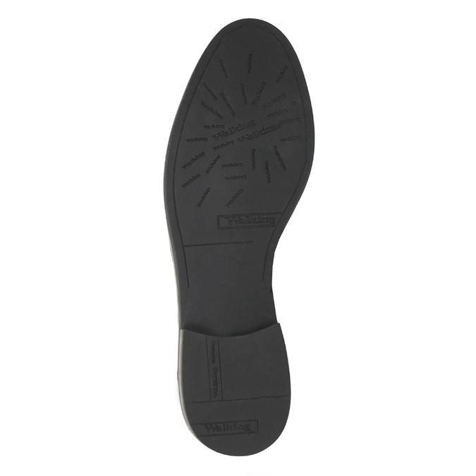 Damskie półbuty ze skóry za kostkę bata, czarny, 598-6601 - 26