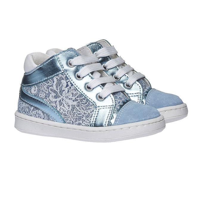 Dziecięce buty sportowe do kostki bubblegummer, niebieski, 129-9146 - 26