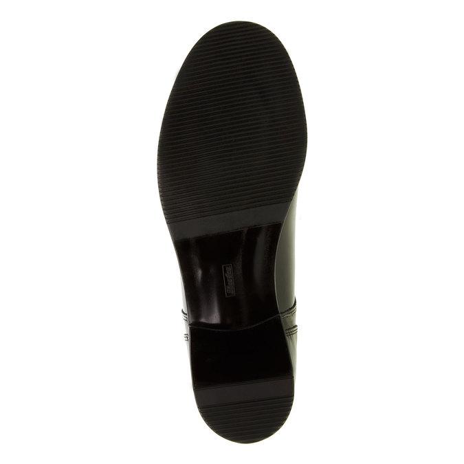 Damskie półbuty z lakierowanej skóry bata, czarny, 528-6117 - 26
