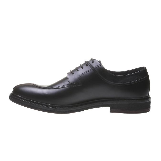 Półbuty męskie ze skóry bata, czarny, 824-6709 - 15