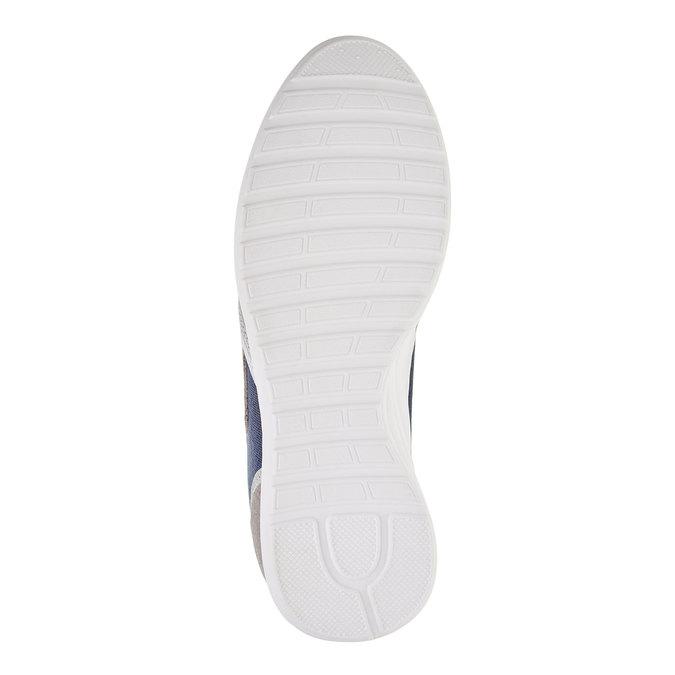 Męskie skórzane buty sportowe gas, niebieski, biały, szary, 843-9606 - 26