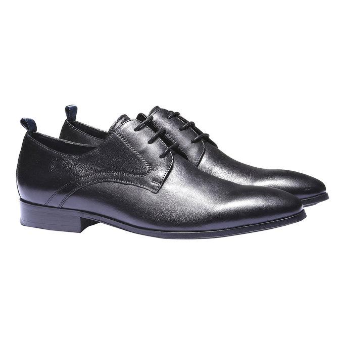 Skórzane półbuty w stylu Derby bata, czarny, 824-6673 - 26