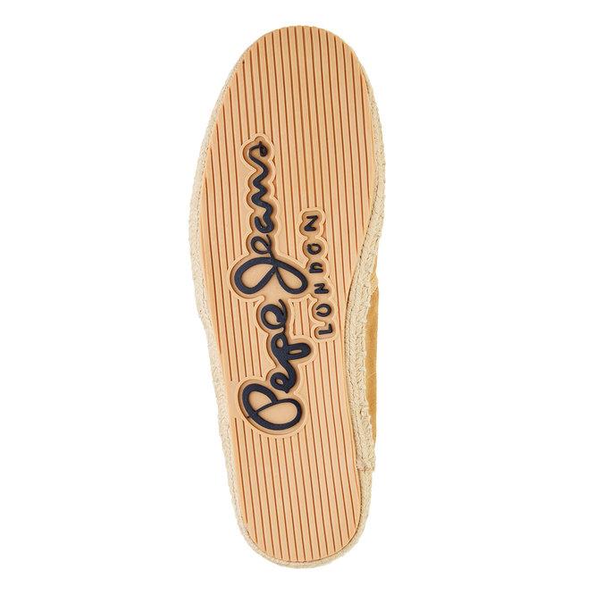 Męskie skórzane buty sportowe pepe-jeans, brązowy, 823-3011 - 26