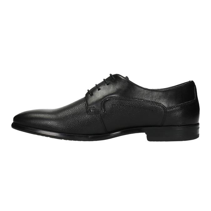 Półbuty męskie ze skóry bata, czarny, 824-6709 - 26