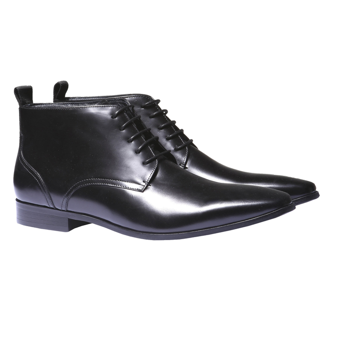 Skórzane botki bata, czarny, 894-6144 - 26
