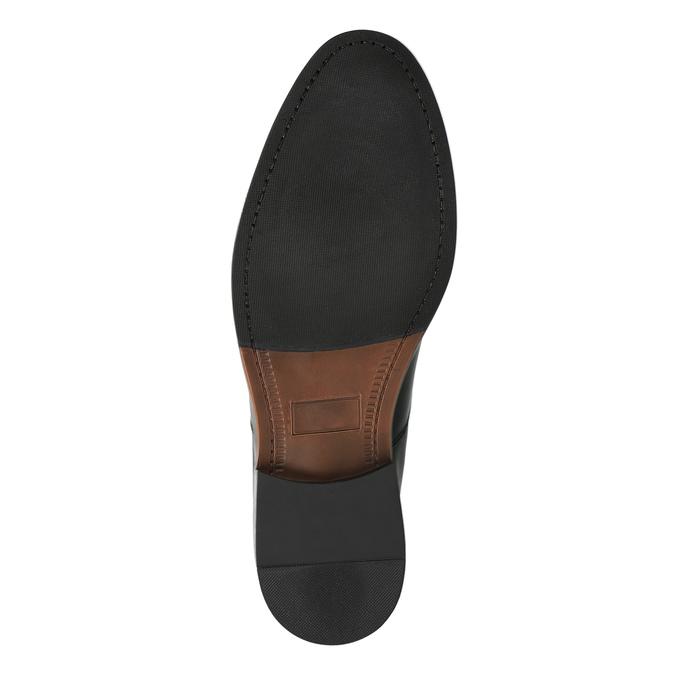 Skórzane półbuty z zaokrąglonym noskiem bata, czarny, 824-6657 - 26