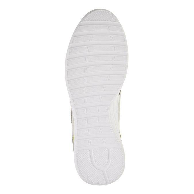 Męskie skórzane buty sportowe gas, beżowy, żółty, 843-8606 - 26