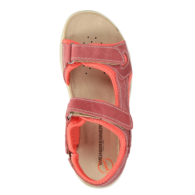 Dziecięce skórzane sandały weinbrenner-junior, czerwony, 366-5170 - 19