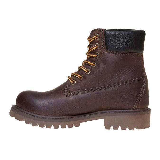 Dziecięce buty zimowe ze skóry weinbrenner-junior, brązowy, 394-4182 - 19