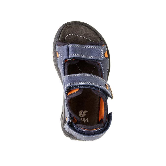 Dziecięce skórzane sandały mini-b, niebieski, 466-9121 - 19