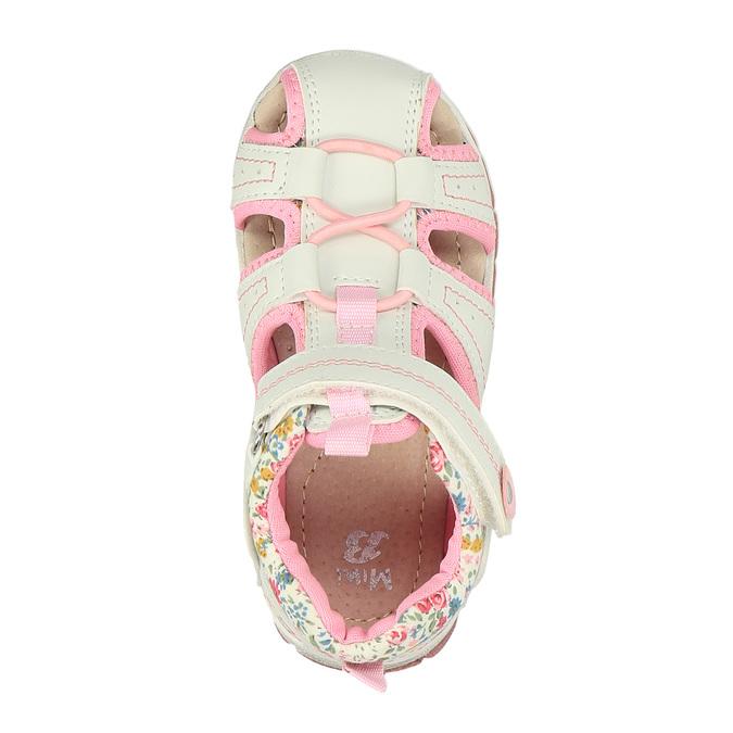 Dziewczęce sandały na rzep mini-b, biały, 121-1105 - 19