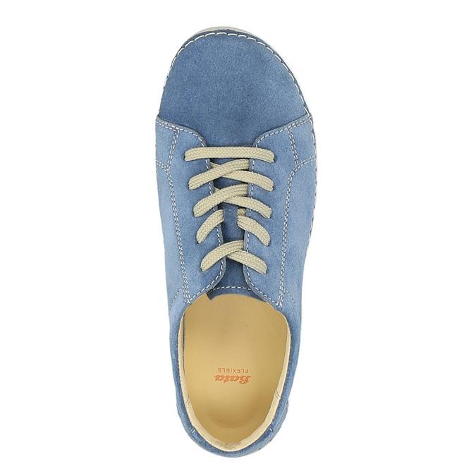 Skórzane buty sportowe na co dzień flexible, niebieski, 526-9603 - 19
