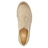 Damskie skórzane półbuty ze zdobieniem bata, beżowy, 524-8482 - 19