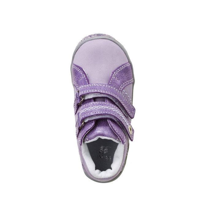 Dziecięce skórzane buty do kostki mini-b, fioletowy, 126-9100 - 19