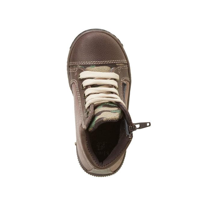 Skórzane botki chłopięce mini-b, brązowy, 114-4135 - 19