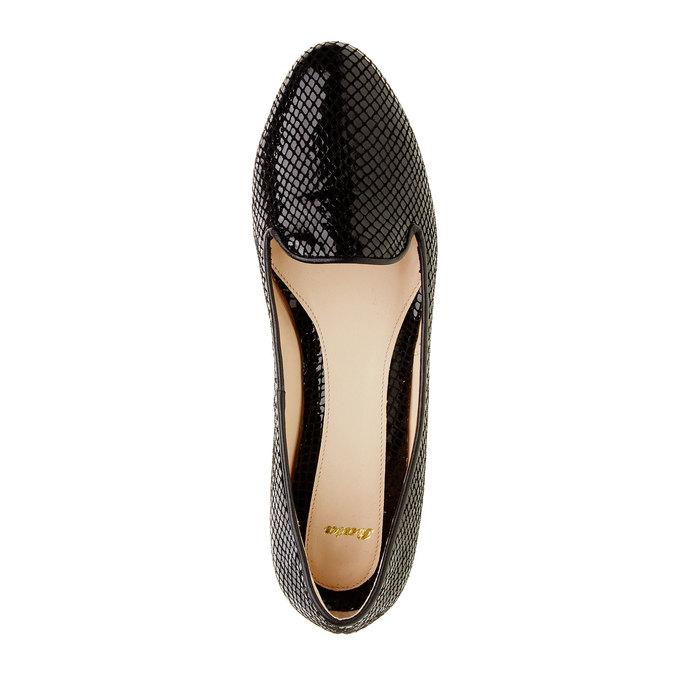 Damskie skórzane mokasyny bata, czarny, 524-6412 - 19