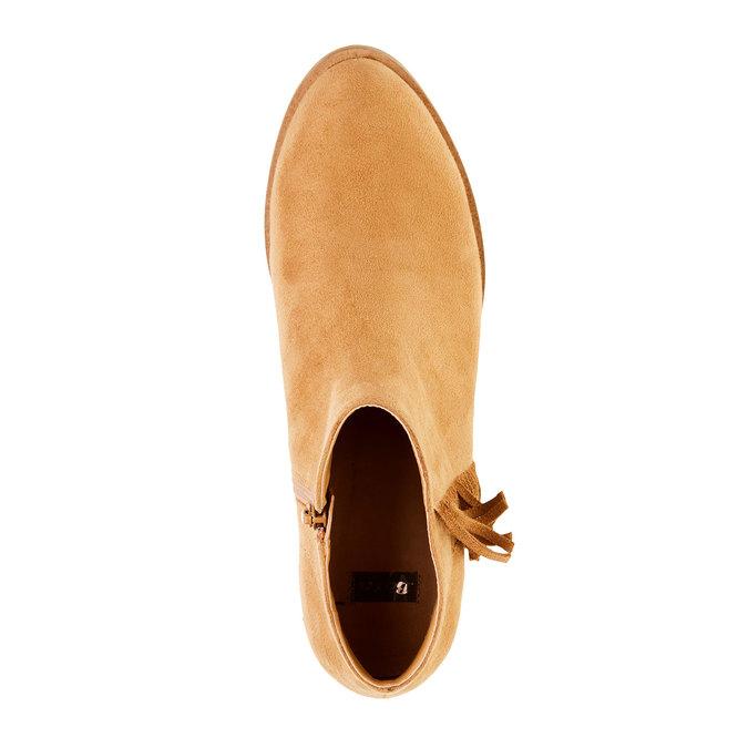 Kozaki do kostki z frędzlami bata, brązowy, 599-3102 - 19