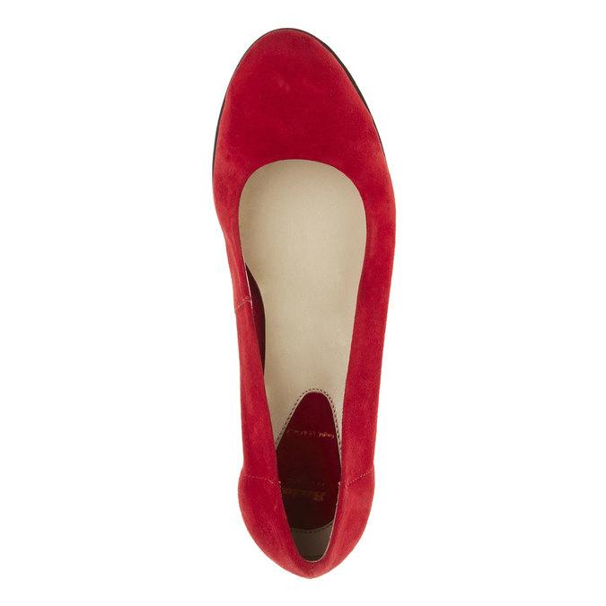 Skórzane czółenka na koturnie flexible, czerwony, 623-5395 - 19