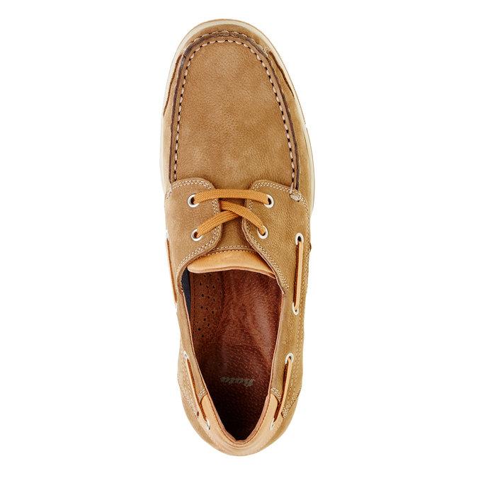 Skórzane mokasyny w codziennym stylu bata, brązowy, 856-3176 - 19