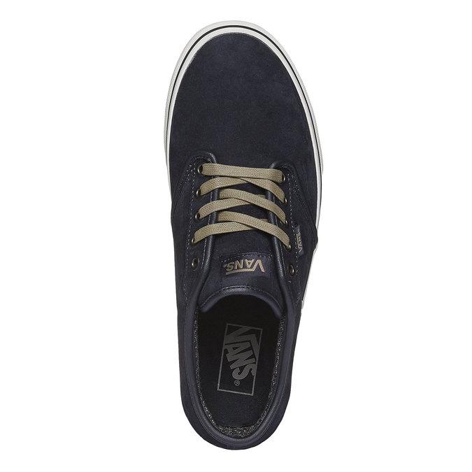 Męskie skórzane buty sportowe vans, czarny, 803-9300 - 19