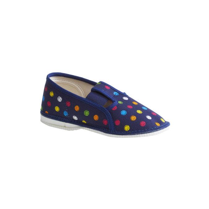 Dziecięce pantofle z uśmieszkami, niebieski, 179-9105 - 13