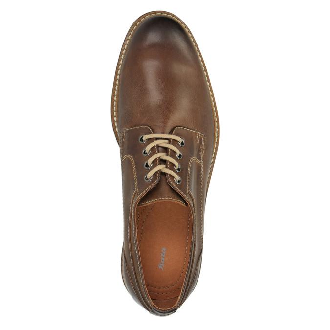 Skórzane półbuty w nieformalnym stylu bata, brązowy, 824-4654 - 19