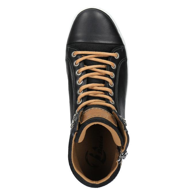Trampki męskie za kostkę bata, czarny, 844-6625 - 19