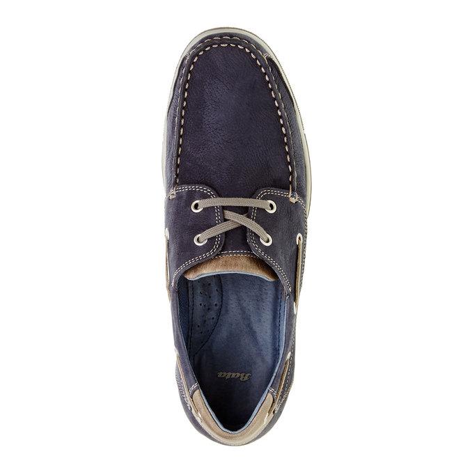 Skórzane mokasyny w codziennym stylu bata, niebieski, 856-9176 - 19
