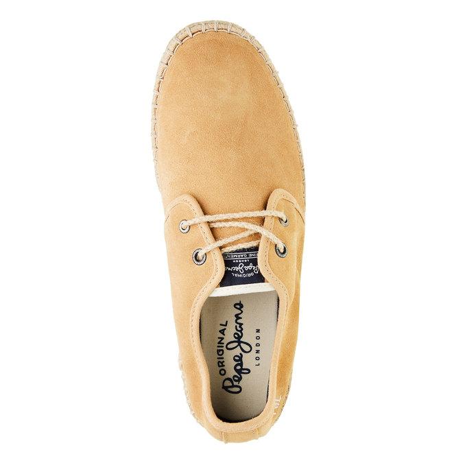 Męskie skórzane buty sportowe pepe-jeans, brązowy, 823-3011 - 19