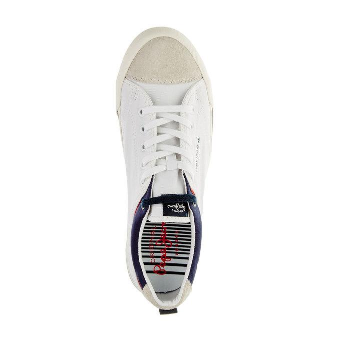 Męskie buty sportowe w codziennym stylu pepe-jeans, biały, 849-1016 - 19