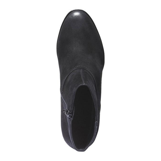 Skórzane botki bata, czarny, 796-6122 - 19