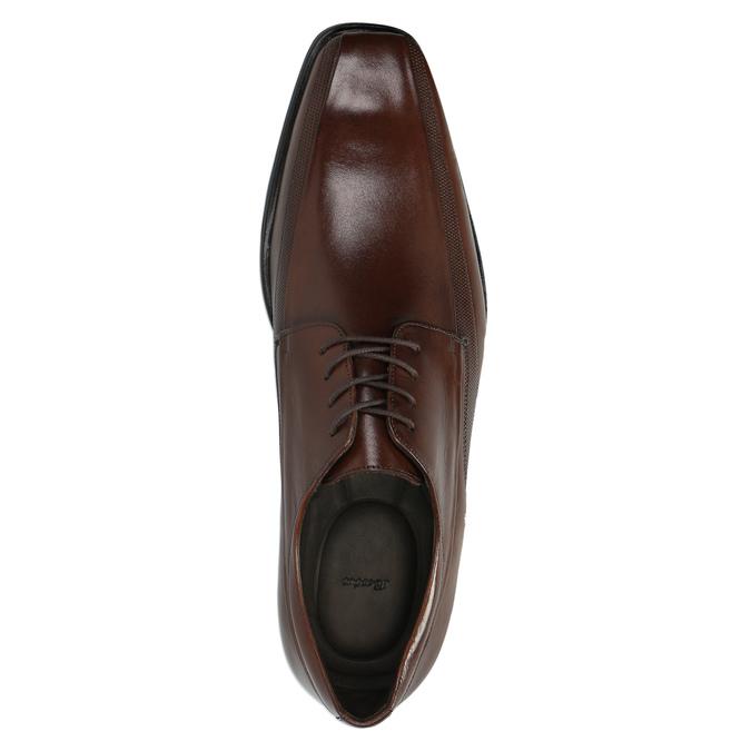 Brązowe skórzane półbuty bata, brązowy, 824-4723 - 19