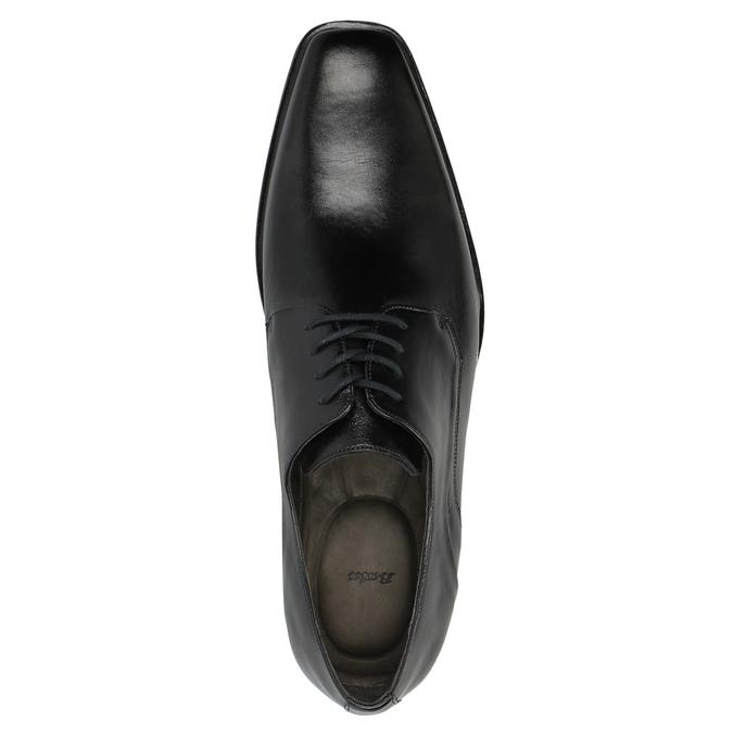 Męskie skórzane półbuty bata, czarny, 824-6720 - 19