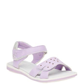 Dziewczęce sandały na rzep mini-b, fioletowy, 361-9180 - 13