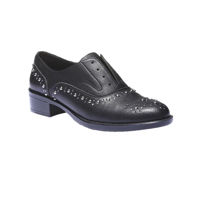 Damskie buty Slip-on z metalowymi ćwiekami bata, czarny, 511-6161 - 13