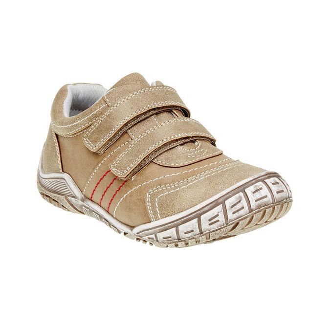 Dziecięce buty sportowe na rzep w codziennym stylu mini-b, brązowy, 311-3212 - 13