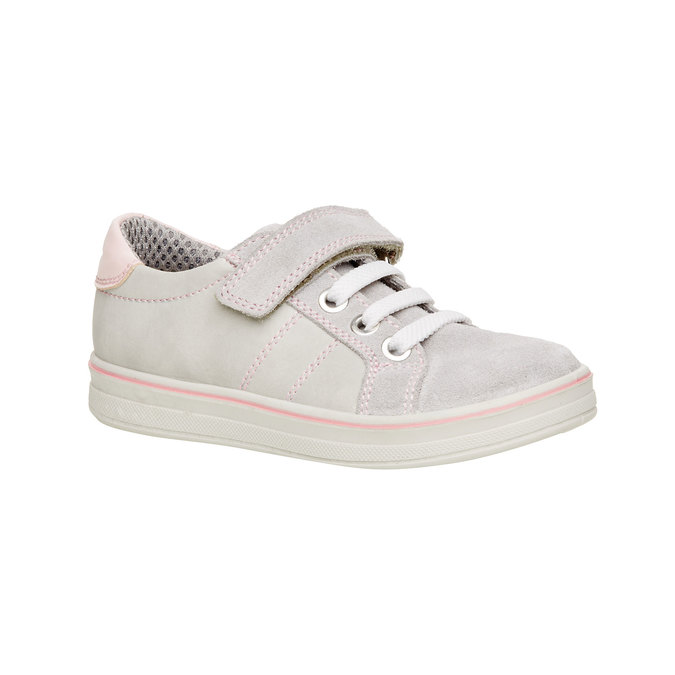 Dziecięce skórzane buty sportowe mini-b, szary, 323-2120 - 13