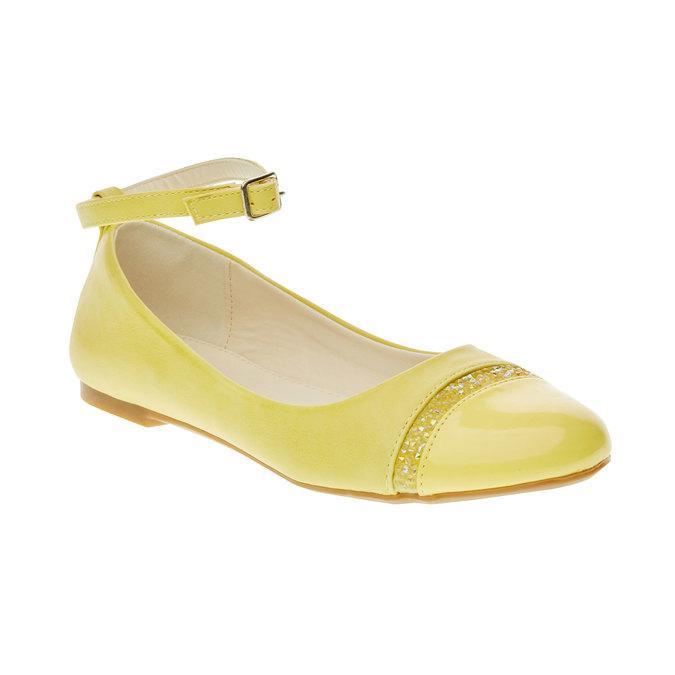 Żółte baleriny z paskiem mini-b, żółty, 321-8181 - 13