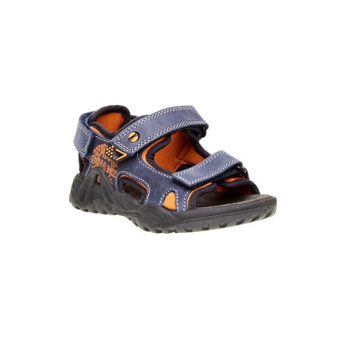 Dziecięce skórzane sandały mini-b, niebieski, 466-9121 - 13