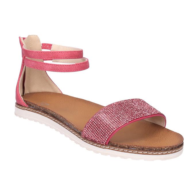 Dziecięce różowe sandały mini-b, różowy, 361-5161 - 13