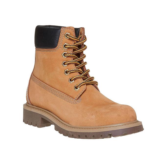 Skórzane buty dziecięce na grubej podeszwie weinbrenner-junior, brązowy, 396-8182 - 13