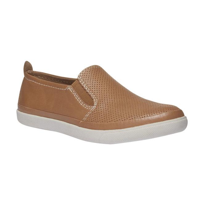 Skórzane buty Plim Soll z perforacją bata, brązowy, 514-3197 - 13