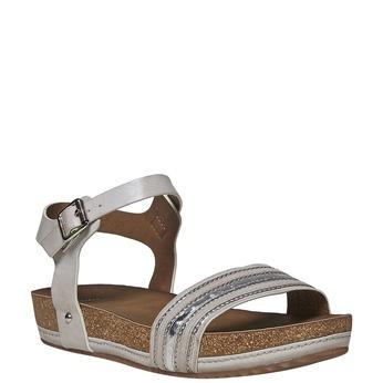 Damskie sandały na flatformie bata, szary, 561-2404 - 13
