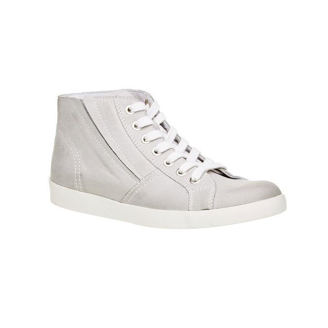 Skórzane buty sportowe do kostki bata, biały, 524-1310 - 13